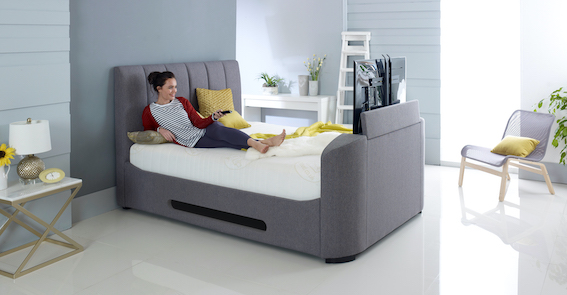Small Double Tv Bed Single With, Queen Size Tv Bed