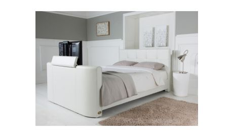 Alpha Double TV Bed In White