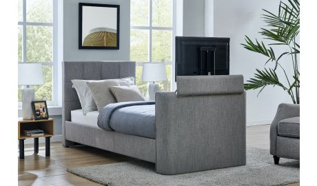 Alpha Single TV Bed In Grey