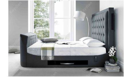 Kaydian Titan TV Bed In Charcoal Grey