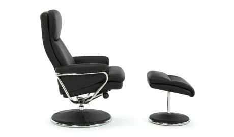 Halden Leather Reclining Chair with Footstool