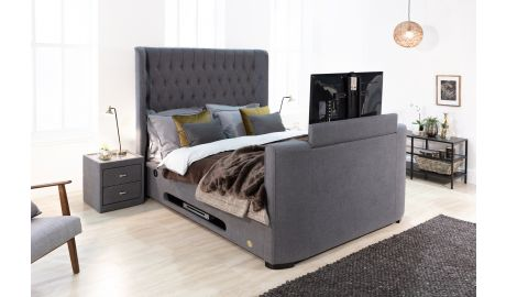 Winchester Slate Grey Storage TV Bed