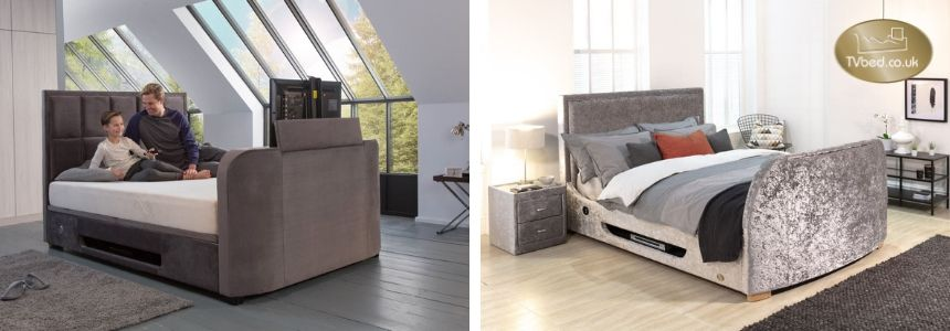 Modernise your bedroom with a velvet TV bed